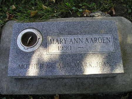 AAROEN, MARY ANN - Bremer County, Iowa | MARY ANN AAROEN
