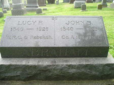 ABRAHAM, LUCY - Bremer County, Iowa   LUCY ABRAHAM