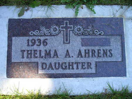 AHRENS, THELMA A - Bremer County, Iowa | THELMA A AHRENS