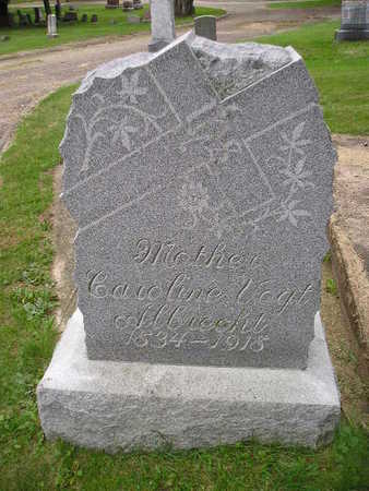 VOGHT ALBRECHT, CAROLINE - Bremer County, Iowa   CAROLINE VOGHT ALBRECHT