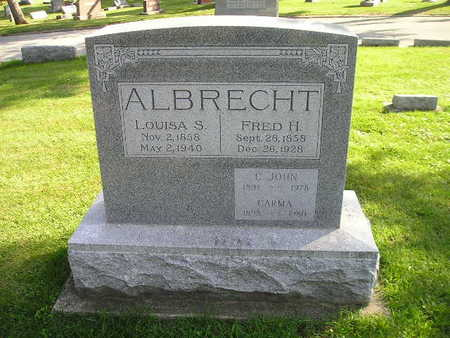 ALBRECHT, FRED H - Bremer County, Iowa | FRED H ALBRECHT