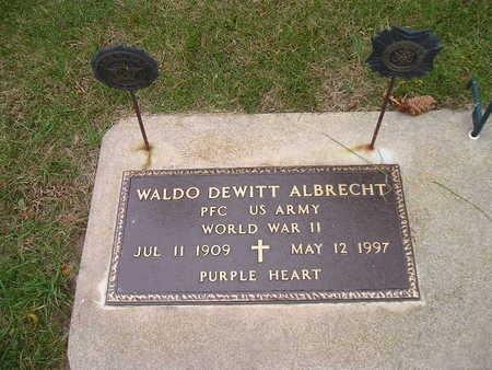 ALBRECHT, WALDO DEWITT - Bremer County, Iowa   WALDO DEWITT ALBRECHT
