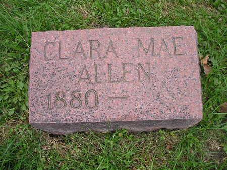 ALLEN, CLARA MAE - Bremer County, Iowa   CLARA MAE ALLEN