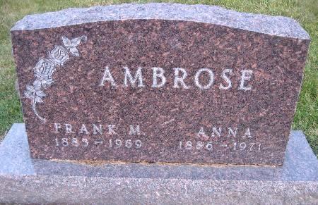 AMBROSE, FRANK M - Bremer County, Iowa   FRANK M AMBROSE