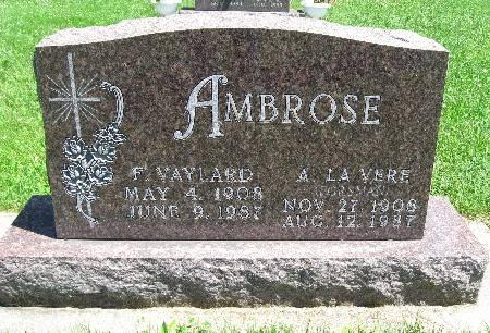 FORSMAN AMBROSE, A. LA VERE - Bremer County, Iowa | A. LA VERE FORSMAN AMBROSE
