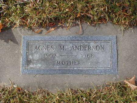 ANDERSON, AGNES M - Bremer County, Iowa | AGNES M ANDERSON