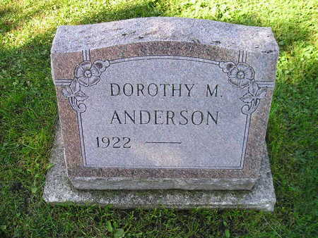 ANDERSON, DOROTHY M - Bremer County, Iowa | DOROTHY M ANDERSON