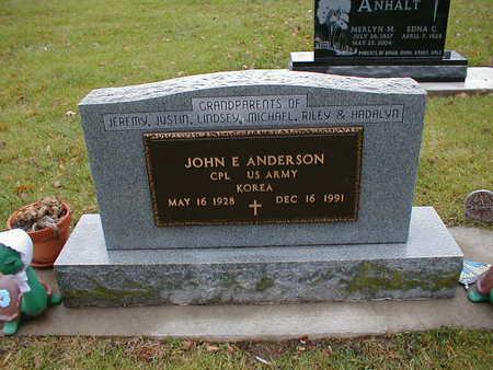 ANDERSON, JOHN E - Bremer County, Iowa | JOHN E ANDERSON