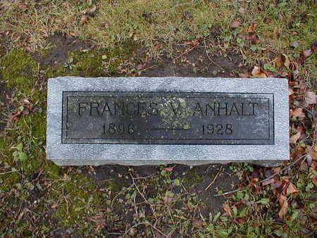 ANHALT, FRANCES V - Bremer County, Iowa | FRANCES V ANHALT