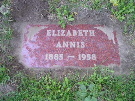 ANNIS, ELIZABETH - Bremer County, Iowa | ELIZABETH ANNIS