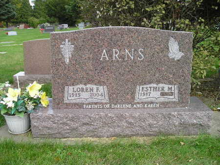 ARNS, ESTHER M - Bremer County, Iowa | ESTHER M ARNS