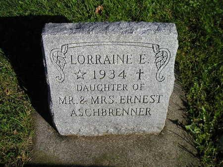 ASCHBRENNER, LORRAINE E - Bremer County, Iowa   LORRAINE E ASCHBRENNER