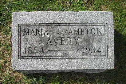 CRAMPTON AVERY, MARIA - Bremer County, Iowa | MARIA CRAMPTON AVERY