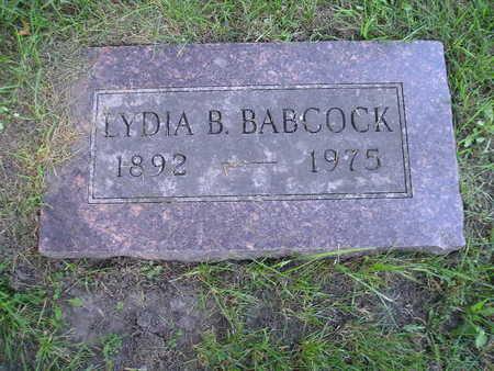 BABCOCK, LYDIA B - Bremer County, Iowa | LYDIA B BABCOCK