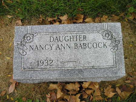 BABCOCK, NANCY ANN - Bremer County, Iowa | NANCY ANN BABCOCK