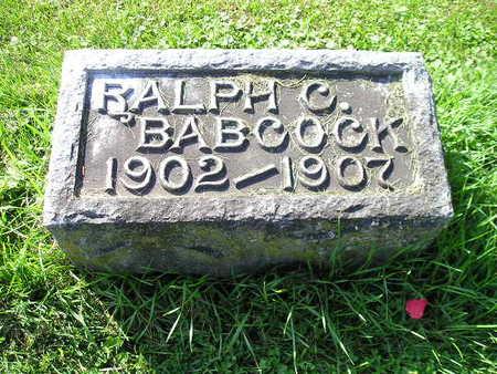 BABCOCK, RALPH C - Bremer County, Iowa   RALPH C BABCOCK