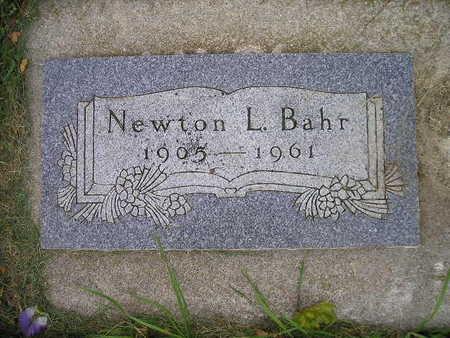 BAHR, NEWTON L - Bremer County, Iowa | NEWTON L BAHR