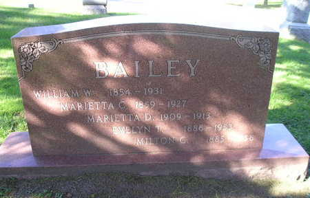 BAILEY, MARIETTA C - Bremer County, Iowa | MARIETTA C BAILEY