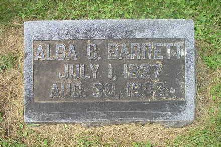 BARRETT, ALBA C. - Bremer County, Iowa   ALBA C. BARRETT