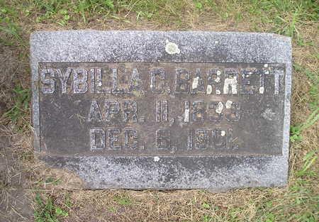 BARRETT, SYBILLA C. - Bremer County, Iowa   SYBILLA C. BARRETT