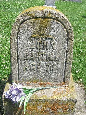 BARTH, JOHN, SR - Bremer County, Iowa   JOHN, SR BARTH