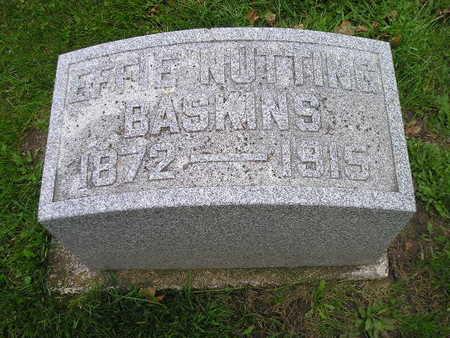 BASKINS, EFFIE - Bremer County, Iowa | EFFIE BASKINS