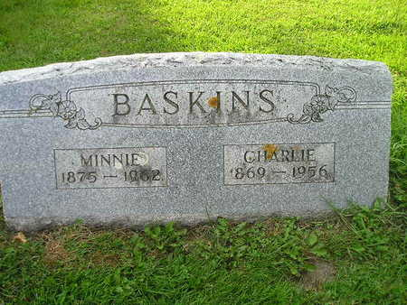 BASKINS, MINNIE - Bremer County, Iowa | MINNIE BASKINS