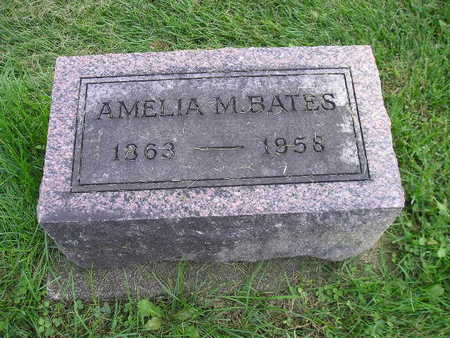 BATES, AMELIA M - Bremer County, Iowa   AMELIA M BATES