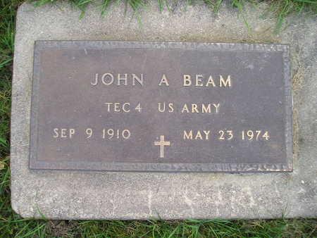 BEAM, JOHN A - Bremer County, Iowa | JOHN A BEAM