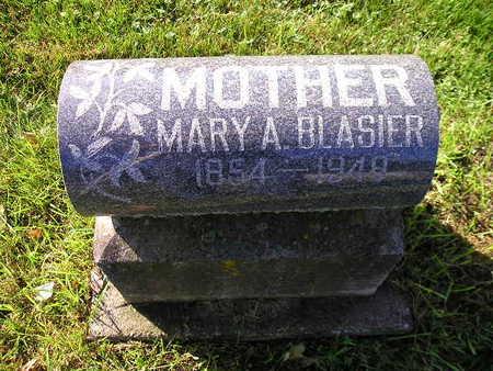 BLASIER, MARY A - Bremer County, Iowa   MARY A BLASIER