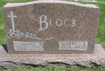 BLOCK, MARIE A. - Bremer County, Iowa | MARIE A. BLOCK