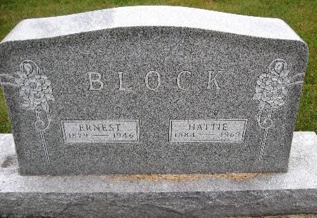BLOCK, ERNEST - Bremer County, Iowa   ERNEST BLOCK