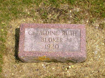 BLOKER, GERALDINE RUTH - Bremer County, Iowa | GERALDINE RUTH BLOKER