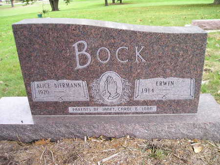 BOCK, ALICE - Bremer County, Iowa | ALICE BOCK