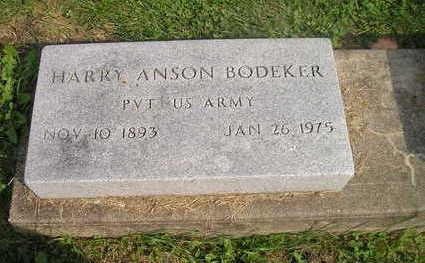 BODEKER, HARRY ANSON - Bremer County, Iowa   HARRY ANSON BODEKER