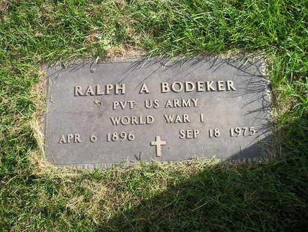 BODEKER, RALPH A - Bremer County, Iowa | RALPH A BODEKER