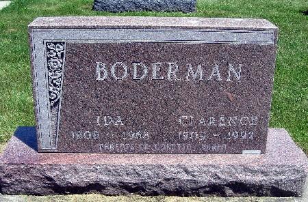 BODERMAN, CLARENCE - Bremer County, Iowa   CLARENCE BODERMAN