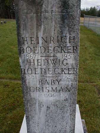 BOEDECKER, CRISMAN - Bremer County, Iowa | CRISMAN BOEDECKER