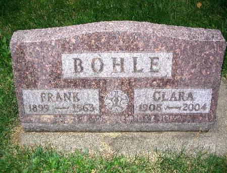 WEHLING BOHLE, CLARA - Bremer County, Iowa   CLARA WEHLING BOHLE