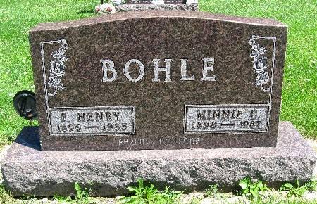 BOHLE, MINNIE C - Bremer County, Iowa   MINNIE C BOHLE
