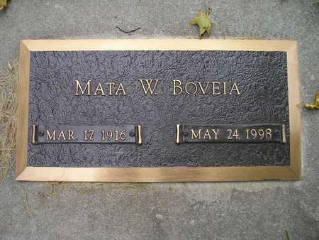 BOVEIA, MATA W - Bremer County, Iowa   MATA W BOVEIA