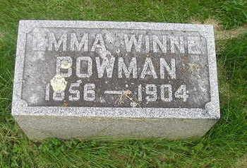 BOWMAN, EMMA - Bremer County, Iowa | EMMA BOWMAN