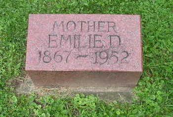 BRANDENBURG, EMILIE - Bremer County, Iowa   EMILIE BRANDENBURG