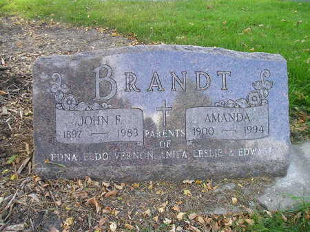 BRANDT, JOHN F - Bremer County, Iowa   JOHN F BRANDT