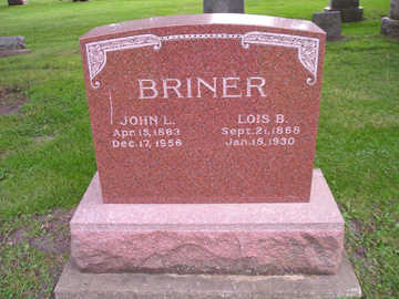 BRINER, LOIS B - Bremer County, Iowa | LOIS B BRINER