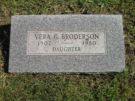 BRODERSON, VERA G - Bremer County, Iowa | VERA G BRODERSON