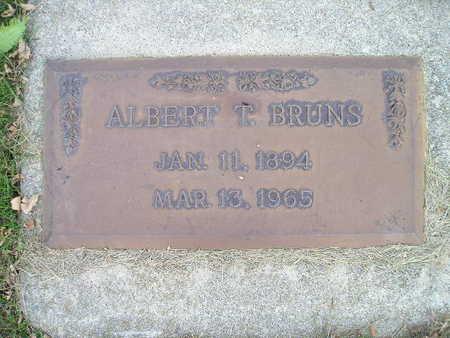 BRUNS, ALBERT T - Bremer County, Iowa   ALBERT T BRUNS