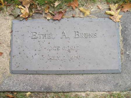 BRUNS, ETHEL A - Bremer County, Iowa   ETHEL A BRUNS