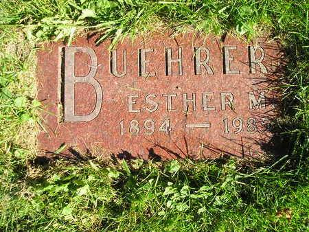 BUEHRER, ESTHER M - Bremer County, Iowa | ESTHER M BUEHRER