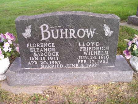 BUHROW, FLORENCE ELEANOR - Bremer County, Iowa | FLORENCE ELEANOR BUHROW